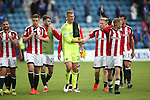 Sheffield Utd players celebrate the win  during the League One match at the Priestfield Stadium, Gillingham. Picture date: September 4th, 2016. Pic David Klein/Sportimage