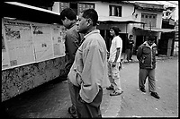 Kathmandu, Nepal, February 2005.On February 1st, King Gyanendra has decreted a state of emergency, suspending all democratic rights.