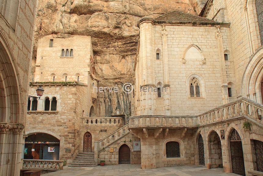 France, Lot (46), Rocamadour, la cité religieuse // France, Lot, Rocamadour, the Religious City