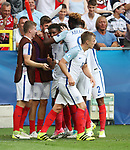 England's Demarai Gray celebrates scoring his sides opening goal during the UEFA Under 21 Semi Final at the Stadion Miejski Tychy in Tychy. Picture date 27th June 2017. Picture credit should read: David Klein/Sportimage