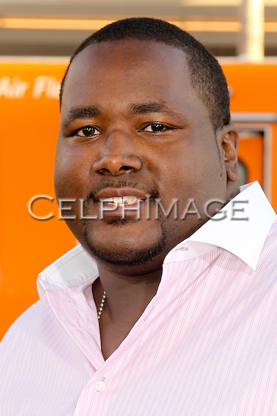 QUINTON AARON arrives to the Los Angeles Premiere of 'Lottery Ticket,' at Grauman's Chinese Theatre.  Hollywood, CA, USA. August 12, 2010. ©Celphimage.