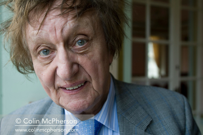 Veteran British comedian and singer songwriter Ken Dodd, pictured in his home city of Liverpool during a break in touring. Dodd has had many recording hits, charting on nineteen occasions in the UK Top 40 since the early 1960s. He played to sell-out audiences at concerts across the UK and made numerous television appearances.