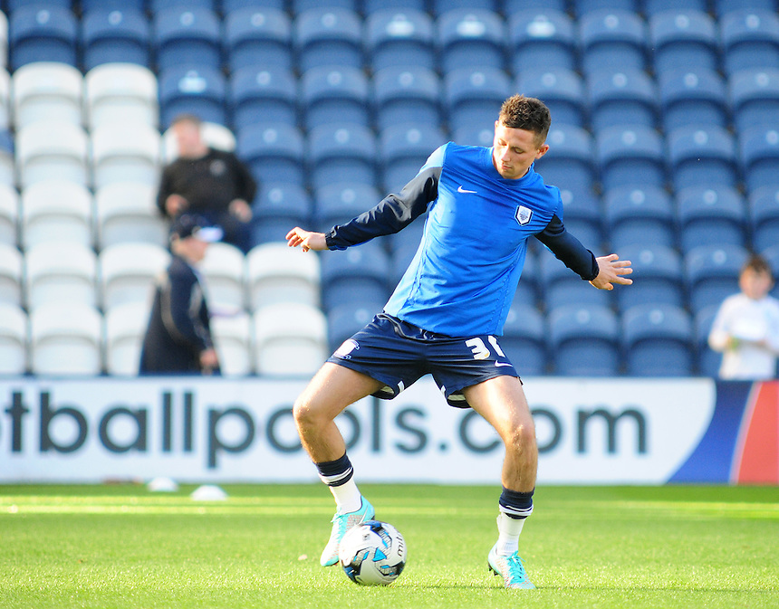 Preston North End's Alan Browne during the pre-match warm-up <br /> <br /> Photographer Chris Vaughan/CameraSport<br /> <br /> Football - The Football League Sky Bet League One - Preston North End v Fleetwood Town - Saturday 25th October 2014 - Deepdale - Preston<br /> <br /> &copy; CameraSport - 43 Linden Ave. Countesthorpe. Leicester. England. LE8 5PG - Tel: +44 (0) 116 277 4147 - admin@camerasport.com - www.camerasport.com