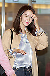 Korean singer Im Yoona arrives at Tokyo International Airport on April 20, 2016, Tokyo, Japan. A small group of fans were waiting to greet Yoona upon her arrival. Yoona is among the international celebrities who will be attending the Louis Vuitton exhibition opening event on 4/21. (Photo by Rodrigo Reyes Marin/AFLO)