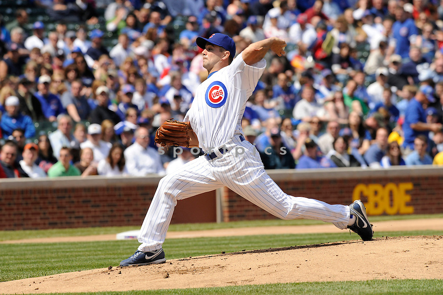 TED LILLY, of the Chicago Cubs, in action during the Cubs game against the Arizona Diamondbacks at  Wrigley Field in Chicago, IL  on April 29, 2010...The Arizona Diamondbacks  win 13-5.