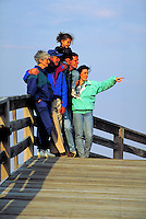 THREE GENERATION FAMILY ON BOARDWALK