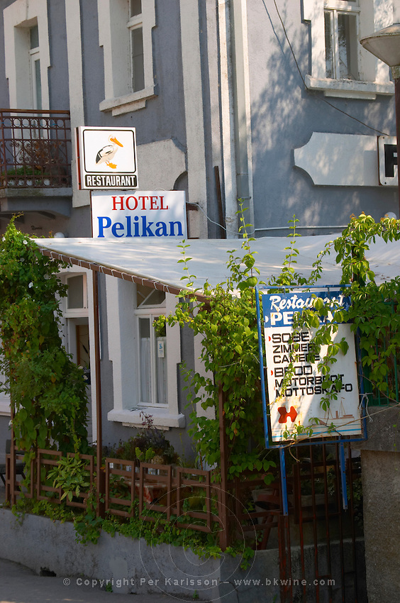 A hotel and restaurant called Pelican. Near Dupilo, Golubovic Montenegro, Balkan, Europe.