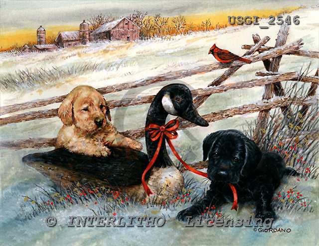 GIORDANO, CHRISTMAS ANIMALS, WEIHNACHTEN TIERE, NAVIDAD ANIMALES, paintings+++++,USGI2546,#XA#