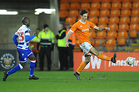 Blackpool's Ben Heneghan under pressure from Reading's Sone Aluko<br /> <br /> Photographer Kevin Barnes/CameraSport<br /> <br /> Emirates FA Cup Third Round Replay - Blackpool v Reading - Tuesday 14th January 2020 - Bloomfield Road - Blackpool<br />  <br /> World Copyright © 2020 CameraSport. All rights reserved. 43 Linden Ave. Countesthorpe. Leicester. England. LE8 5PG - Tel: +44 (0) 116 277 4147 - admin@camerasport.com - www.camerasport.com