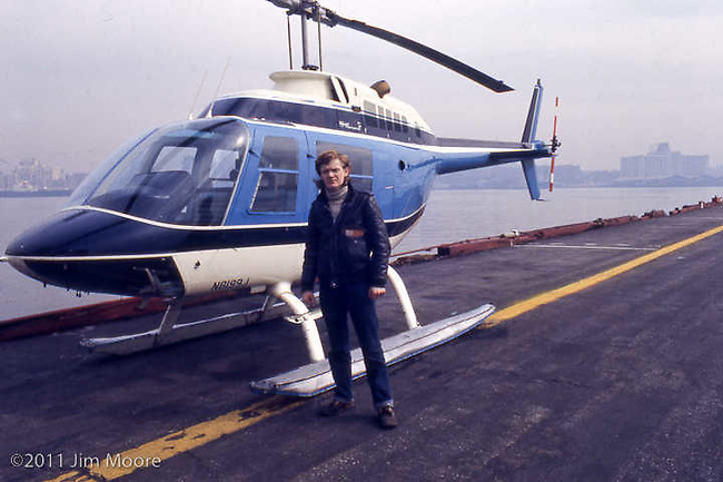 Philippe Petit with helicopter.