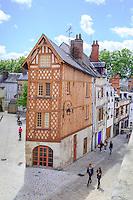 France, Loiret (45), Orléans, maison à pans de bois dite de Jean Dalibert bâtie dans les années 1560 // France, Loiret, Orleans, Jean Dalibert house,  half-timbered building