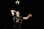 13.09.2019, Paleis 12, BrŸssel / Bruessel<br />Volleyball, Europameisterschaft, Deutschland (GER) vs. Serbien (SRB)<br /><br />Aufschlag / Service Tobias Krick (#2 GER)<br /><br />  Foto © nordphoto / Kurth