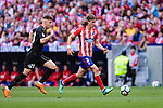 Filipe Luis of Atletico de Madrid (R) in action against Ivan Alejo of SD Eibar (L) during the La Liga match between Atletico Madrid and Eibar at Wanda Metropolitano Stadium on May 20, 2018 in Madrid, Spain. Photo by Diego Souto / Power Sport Images