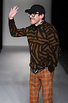 "Fashion designer Mondo Guerra thanks audience for attending his Mondo Guerra Fall Winter 2017 ""Late to the Opera"" collection fashion show, on February 12, 2017; at The Stewart Hotel in New York City, during FGNYFW Fall Winter 2017."