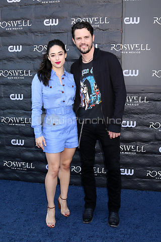 """WEST HOLLYWOOD, CA - JANUARY 10:  Jeanine Mason, Nathan Parsons at the """"Roswell, New Mexico"""" Experience at the 8801 Sunset Blvd on January 10, 2019 in West Hollywood, CA Credit: David Edwards/MediaPunch"""