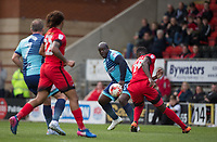 Adebayo Akinfenwa of Wycombe Wanderers in action during the Sky Bet League 2 match between Leyton Orient and Wycombe Wanderers at the Matchroom Stadium, London, England on 1 April 2017. Photo by Andy Rowland.