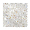 Scallops, shown in Shell is part of New Ravenna's Studio Line of ready to ship mosaics.