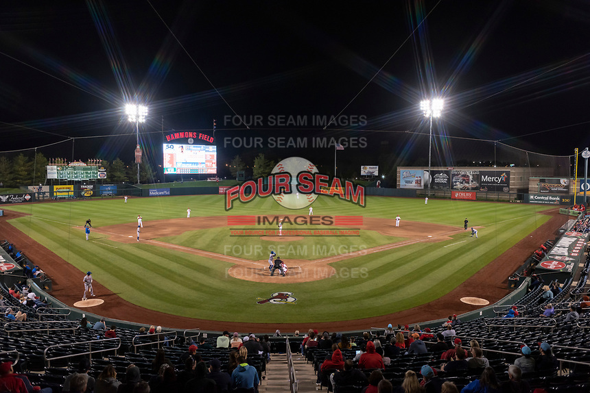 The Springfield Cardinals host the Amarillo Sod Poodles during a Texas League game on April 25, 2019 at Hammons Field in Springfield, Missouri. Springfield defeated Amarillo 8-0. (Zachary Lucy/Four Seam Images)