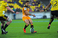 Jaguares' Joaquin Diaz Bonilla grubbers for the tryline during the Super Rugby match between the Hurricanes and Jaguares at Westpac Stadium in Wellington, New Zealand on Friday, 17 May 2019. Photo: Dave Lintott / lintottphoto.co.nz