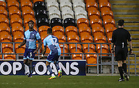Wycombe Wanderers' Anthony Stewart celebrates scoring his sides equalising goal with Paris Cowan-Hall<br /> <br /> Photographer Alex Dodd/CameraSport<br /> <br /> Checkatrade Trophy Round 3 Blackpool v Wycombe Wanderers - Tuesday 10th January 2017 - Bloomfield Road - Blackpool<br />  <br /> World Copyright &copy; 2017 CameraSport. All rights reserved. 43 Linden Ave. Countesthorpe. Leicester. England. LE8 5PG - Tel: +44 (0) 116 277 4147 - admin@camerasport.com - www.camerasport.com