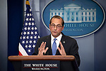 United States Secretary of Health and Human Services Alex Azar briefs reporters on US President Donald J. Trump'&Auml;&ocirc;s blueprint to lower drug prices in the Brady PressBriefing Room of the White House in Washington, DC on Friday, May 11, 2018.<br /> Credit: Ron Sachs / CNP | usage worldwide