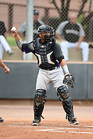 Colorado Rockies catcher Hamlet Marte (59) during an Instructional League game against the Arizona Diamondbacks on October 8, 2014 at Salt River Fields at Talking Stick in Scottsdale, Arizona.  (Mike Janes/Four Seam Images)