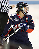 Jennifer Chaisson (UConn - 13) - The visiting University of Connecticut Huskies defeated the Northeastern University Huskies 4-2 (EN) in NU's senior game on Saturday, February 19, 2011, at Matthews Arena in Boston, Massachusetts.