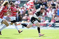 Ben Spencer of Saracens runs in a first half try. Gallagher Premiership Semi Final, between Saracens and Gloucester Rugby on May 25, 2019 at Allianz Park in London, England. Photo by: Patrick Khachfe / JMP