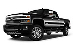 Stock pictures of low aggressive front three quarter view of 2017 Chevrolet Silverado-2500Hd High-Country-Crew-LWB 4 Door Pickup Low Aggressive