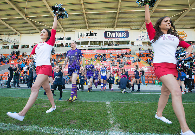 Picture by Allan McKenzie/SWpix.com - 23/05/2015 - Rugby League - Kingstone Press Championship Summer Bash - Workington v Whitehaven - Bloomfield Road, Blackpool, England - Workignton & Whitehaven take to the field.
