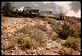 D&amp;RGW #489 K-36 with gondolas on Monarch switchback.<br /> D&amp;RGW  Monarch area, CO