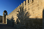 The wall of the fortified mosque in Sousse, Tunisia.