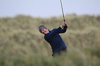 Joseph Byrne (Baltinglass) on the 13th tee during Round 2 of the Ulster Boys Championship at Portrush Golf Club, Portrush, Co. Antrim on the Valley course on Wednesday 31st Oct 2018.<br /> Picture:  Thos Caffrey / www.golffile.ie<br /> <br /> All photo usage must carry mandatory copyright credit (&copy; Golffile | Thos Caffrey)