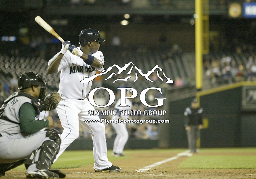 13 Sept 2007:  Seattle Mariners shortstop Yuniesky Betancourt gets set in the batters box against the Tampa Bay Devil Rays. Seattle won 8-7 at Safeco Field in Seattle, WA.