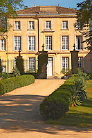 Chateau Figeac the facade from the front and entrance gate