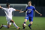 27 September 2016: Georgia State's Kyle Clinton (ENG) (2) and Duke's Bryson Asher (17). The Duke University Blue Devils hosted the Georgia State University Panthers at Koskinen Stadium in Durham, North Carolina in a 2016 NCAA Division I Men's Soccer match. Georgia State won the game 2-1 in two overtimes.
