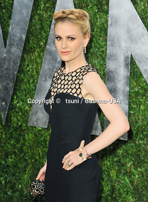 Anna Paquin 596 at the Vanity Fair 2013 Oscar party at the Sunset Tower in Los Angeles.