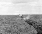 Jerome ID:  Plowing the farmland on the 160 acre homestead - 1911.   Brady Stewart and three friends went to Idaho on a lark from 1909 thru early 1912. As part of the Mondell Homestead Act, they received a land grant of 160 acres north of the Snake River.  For 2 ½  years, Brady Stewart photographed the adventures of farming along with the spectacular landscapes.