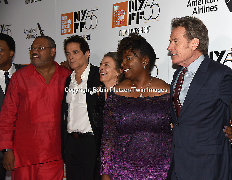 cast of the movie, Laurence Fishburn, Yul Vazzuez, Deanna Reed-Foster, Bryan Cranston and Richard Linkater attend the Opening Night Gala Presentation and World Premiere of &quot; Last Flag Flying&quot; at the 55th New York Film Festival on September 28, 2017 at Alice Tully Hall in Lincoln Center in New York City. <br /> <br /> photo by Robin Platzer/Twin Images<br />  <br /> phone number 212-935-0770