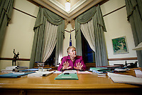 PQ leader and Quebec Premier Pauline Marois gestures during a sit down interview with Globe and Mail reporter at her office in Quebec City Thursday November 15, 2012. The PQ is on track to deliver a Fall budget, soon after the September 4 election.