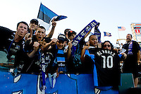 San Jose Earthquakes fans at Home Depot Center stadium in Carson, California on Thursday July 22, 2010.