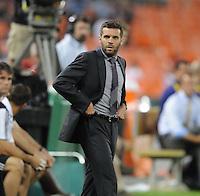 D.C. United coach Ben Olsen. D.C. United defeated Real Salt Lake 4-0 at RFK Stadium, Saturday September 24 , 2011.