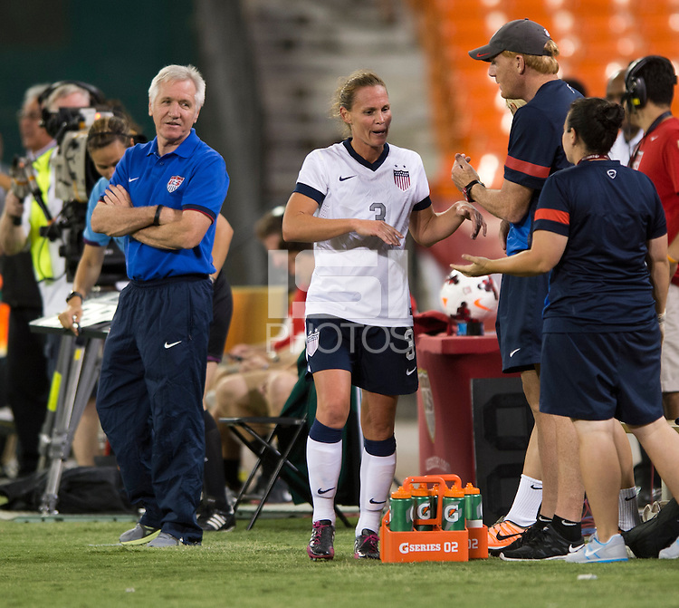 Tom Sermanni, Christie Rampone. The USWNT defeated Mexico, 7-0, during an international friendly at RFK Stadium in Washington, DC.  The USWNT defeated Mexico, 7-0.
