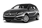 Stock pictures of low aggressive front three quarter view of 2016 Mercedes Benz B-Class Inspiration 5 Door Mini MPV Low Aggressive