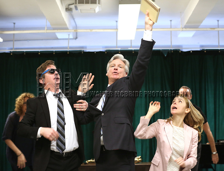 Duke Lafoon, Tom Galantich and Kerry Butler during the 'Clinton The Musical' - Sneak Peek at Ripley Grier Studios on March 4, 2015 in New York City.