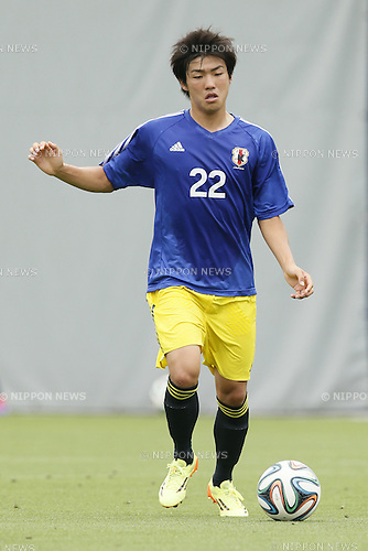 Rikiya Motegi,<br /> JULY 1, 2014 - Football / Soccer : <br /> Training match between U-19 Japan 1-2 Omiya Ardija<br /> at NACK5 Stadium Omiya, Saitama, Japan. <br /> (Photo by SHINGO ITO/AFLO SPORT)