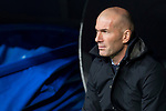 Real Madrid  coach Zinedine Zidane during La Liga match between Real Madrid and Getafe CF  at Santiago Bernabeu Stadium in Madrid , Spain. March 03, 2018. (ALTERPHOTOS/Borja B.Hojas)
