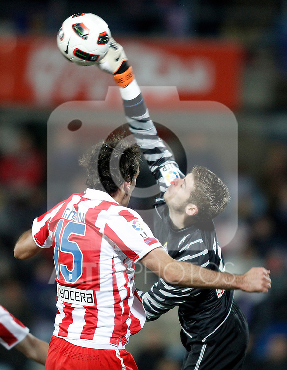 Atletico de Madrid's David De Gea during La Liga Match. March 02, 2011. (ALTERPHOTOS/Alvaro Hernandez)