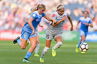 Bridgeview, IL - Sunday September 03, 2017: Alyssa Mautz, Jaelene Hinkle during a regular season National Women's Soccer League (NWSL) match between the Chicago Red Stars and the North Carolina Courage at Toyota Park. The Red Stars won 2-1.
