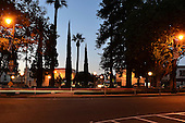 Stock photo of traffic circle at City of Orange Orange County, California